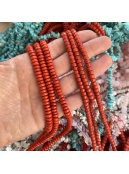 Коралл, рондель 5*3мм и 7*2мм