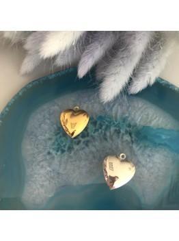"""Подвеска """"Сердце"""" открывающаяся родирование/позолота"""