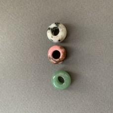 Пончик (бублик)  из натурального камня 13 мм