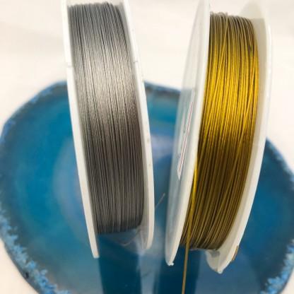 Ювелирный трос 0,35 - 0,45мм в позолоте 24К/серебре