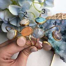 Браслеты с натуральными камнями Позолота 24К