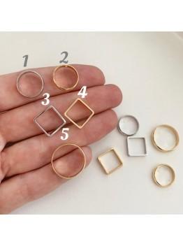 Геометрический ювелирный элемент с отверстиями