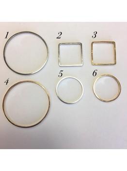 Ювелирный элемент геометрический 16мм-30мм, родирование/позолота