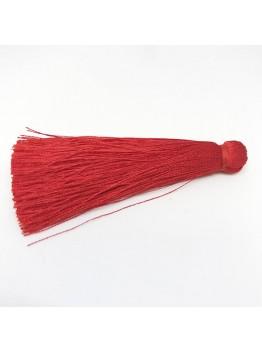 Шелковая кисть 7см, цвет красный