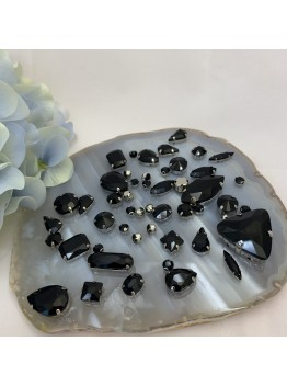 Набор пришивных кристаллов (Черный)