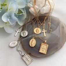 Подвеска из четырёх кулонов, в золотом и серебряном цвете