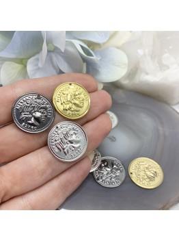 Монета 20мм Позолота/Родирование/Черненое серебро