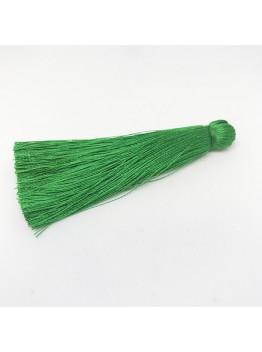 Шелковая кисть 7см, цвет зеленый