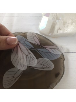 Подвеска «Крыло бабочки», 80мм, шёлк