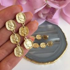 Серьги в позолоте «Монетки»