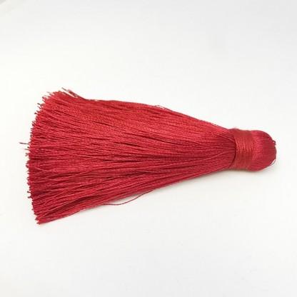 Шелковая кисть 8см, цвет красный