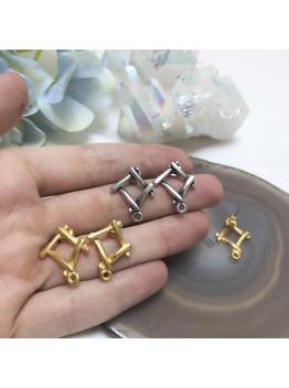 Швензы, Итальянская фурнитура. Матовая Позолота 18К/Американское серебро