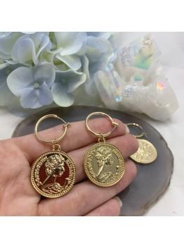 Серьги «Монета» 4,5см
