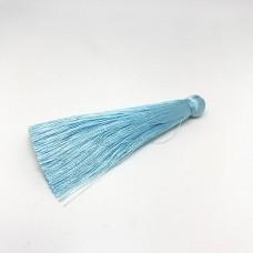 Шелковая кисть 7см, цвет светло-голубой