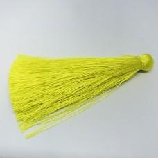 Шелковая кисть 7см, цвет желтый