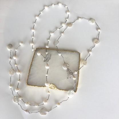 Сотуар из натурального жемчуга, 81см