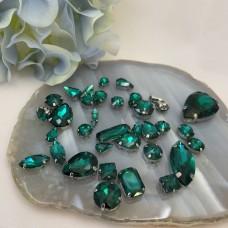 Набор пришивных кристаллов (Зеленый)